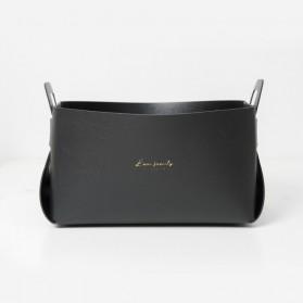 KAFK  Kotak Penyimpanan Storage Box Desk Case Organizer Leather - EFF45 - Black