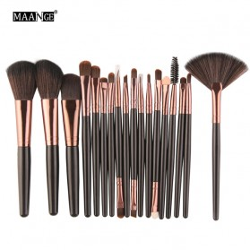 Maange Eye Make Up Brush Kuas Makeup Mata 18 PCS - MAG5445 - Black Gold