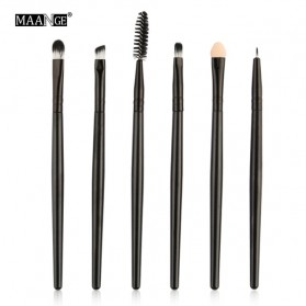 Maange Eye Make Up Brush Kuas Makeup Mata 6 pcs - MAG5445 - Black