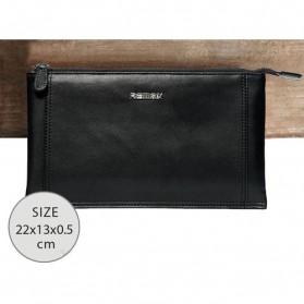 Remax Dompet Genggam Clutches Kulit Glossy Series Genuie Leather Handbag - Black