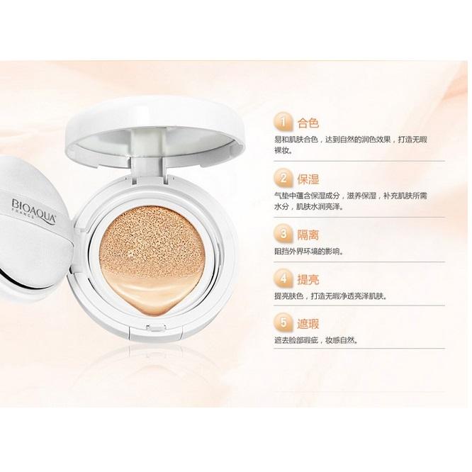 Bioaqua Brightening Liquid Bb Air Cushion Makeup 15g White