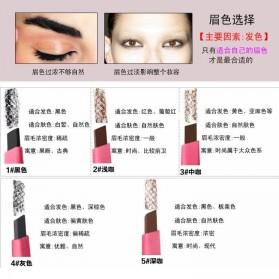 SR Makeup Pensil Alis Anti Keringat Waterproof - Light Chocolate - 4