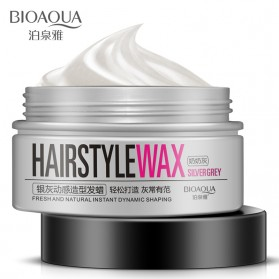 Bioaqua Wax Rambut Hairstyle Shaping Warna Silver Gray 100g - Gray