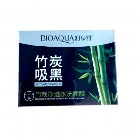 Bioaqua Masker Wajah Bamboo Charcoal 140g - Black - 6