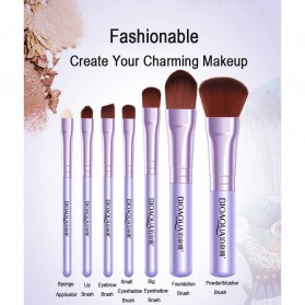 BIOAQUA Make Up Brush 7 PCS - BQY8238 - Purple - 3