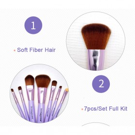 BIOAQUA Make Up Brush 7 PCS - BQY8238 - Purple - 4