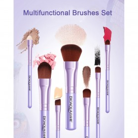 BIOAQUA Make Up Brush 7 PCS - BQY8238 - Purple - 7