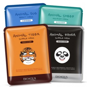 Bioaqua Masker Wajah Cute Skin Care Mask Panda 1 PCS - YGZWBZ - Black
