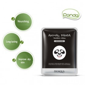 Bioaqua Masker Wajah Cute Skin Care Mask Panda 1 PCS - YGZWBZ - Black - 2