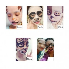 Bioaqua Masker Wajah Cute Skin Care Mask Panda 1 PCS - YGZWBZ - Black - 4