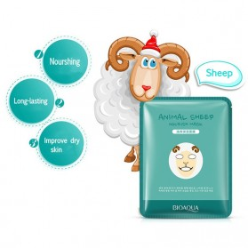 Bioaqua Masker Wajah Cute Skin Care Mask Sheep 1 PCS - YGZWBZ - Green - 2