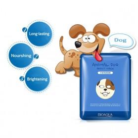 Bioaqua Masker Wajah Cute Skin Care Mask Dog 1 PCS - YGZWBZ - Blue - 2