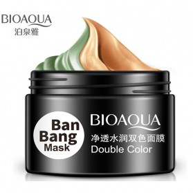 Bioaqua Ban Bang Mask Double Color Facial Care 50g+50g - YGZW - Black