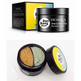 Bioaqua Ban Bang Mask Double Color Facial Care 50g+50g - YGZW - Black - 9