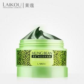 Laikou Masker Wajah Green Beans Mud Blackhead Remover 90g - Green - 1