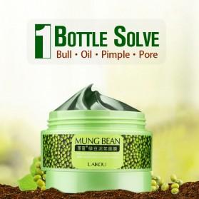 Laikou Masker Wajah Green Beans Mud Blackhead Remover 90g - Green - 2