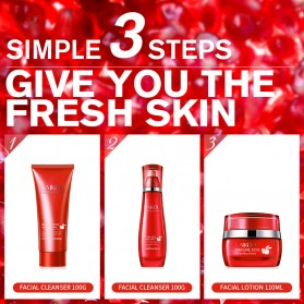 LAIKOU Krim Wajah Red Pomegranate Anti-Wrinkle Whitening Moisturizing 55g - Red - 4