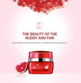 LAIKOU Krim Wajah Red Pomegranate Anti-Wrinkle Whitening Moisturizing 55g - Red - 6
