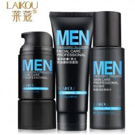 Laikou 3 in 1 Facial Cleanser Moisturizing Toner for Men - Black
