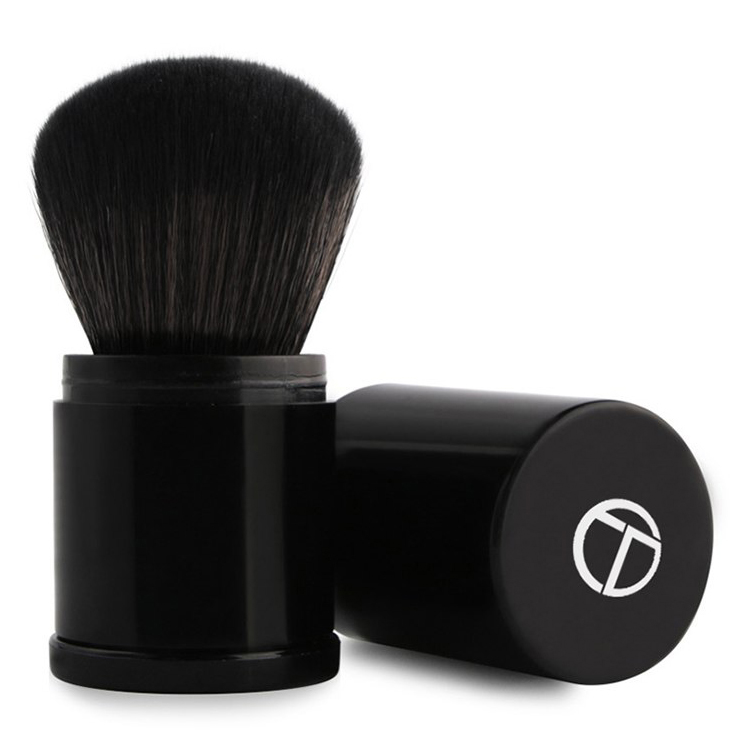 O Foundation Profesional Make Up Brush Retractable - Black - 1 ...