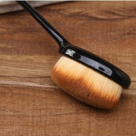 Oval Brush Foundation Make Up Tool - BB4 - Black - 6