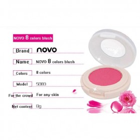 NOVO Temptation Beautiful Rogue Monochrome Blush On 8g - No.1 Cherry Pink - 4