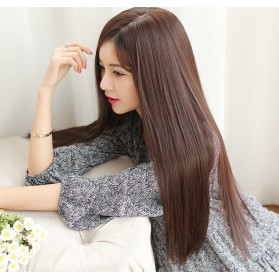 Wig Rambut Palsu Model Long Straight - Linseed Yellow 014 - Yellow - 3