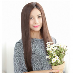 Wig Rambut Palsu Model Long Straight - Linseed Yellow 014 - Yellow - 5