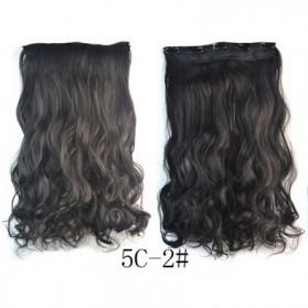 Rambut Palsu & Hair Extension - Hair Extension Clip Wig Rambut Palsu - 5C-2 - Black