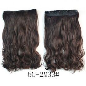 Rambut Palsu & Hair Extension - Hair Extension Clip Wig Rambut Palsu - 5C-2M33 - Brown