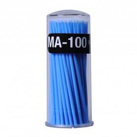 Kuas Mini Pembersih Maskara Bulu Mata 100 PCS - Blue