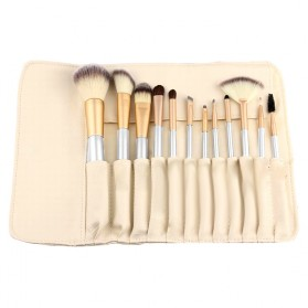 Kuas Make Up Persia 12 PCS - Champagne Gold