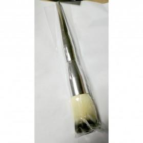 Kuas Aplikator Make Up Aluminium - Silver - 7