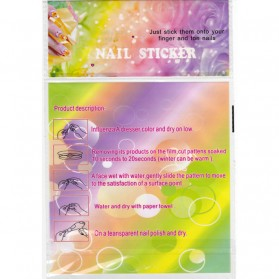 Nail Art Water Sticker 12 Pair - Multi-Color - 3