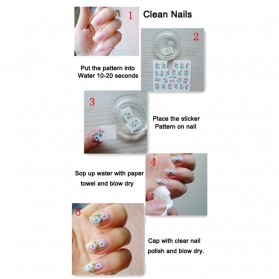 Nail Art Water Sticker 12 Pair - Multi-Color - 4