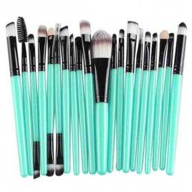 GUJHUI Brush Make Up 20 Set - Green/Black