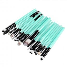 GUJHUI Brush Make Up 20 Set - Green/Black - 2