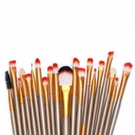 GUJHUI Brush Make Up 20 Set - Green/Black - 3