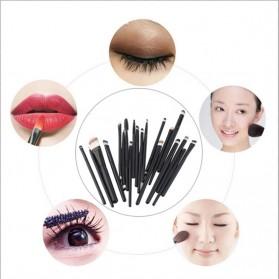 GUJHUI Brush Make Up 20 Set - Green/Black - 4