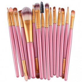 Kit Brush Make Up 15 Set - B7146 - Pink