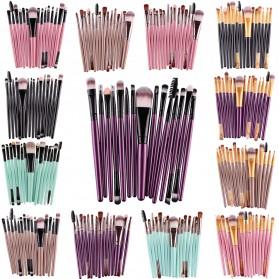 Kit Brush Make Up 15 Set - B7146 - Pink - 3