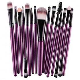 Kit Brush Make Up 15 Set - B7146 - Purple