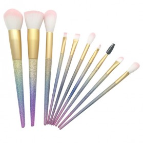 Unicorn Brush Make Up 10 in 1 - Multi-Color