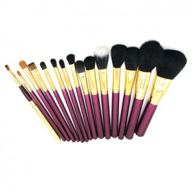 Brush Make Up 15 in 1 with Pouch - Purple