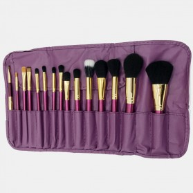 Brush Make Up 15 in 1 with Pouch - Purple - 6