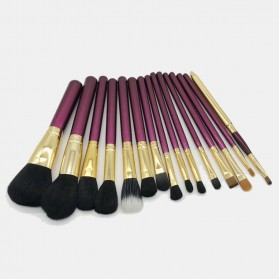 Brush Make Up 15 in 1 with Pouch - Purple - 8