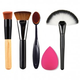 Set Perlengkapan Makeup Travel 5 in 1