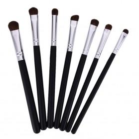 Professional Eye Make Up Brush 7PCS - Black/Silver