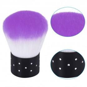 Kuas Pembersih Kuku Untuk Acrylic dan UV Gel - Purple