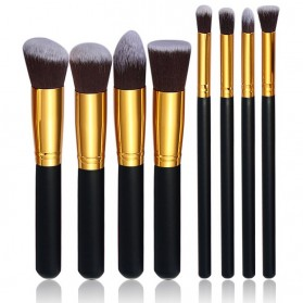 Make Up Brush 8 PCS - MAG5444 - Black Gold